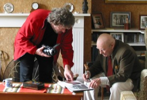 Brendan McCormack in conversation with Julian Bream during the filming of My Life in Music