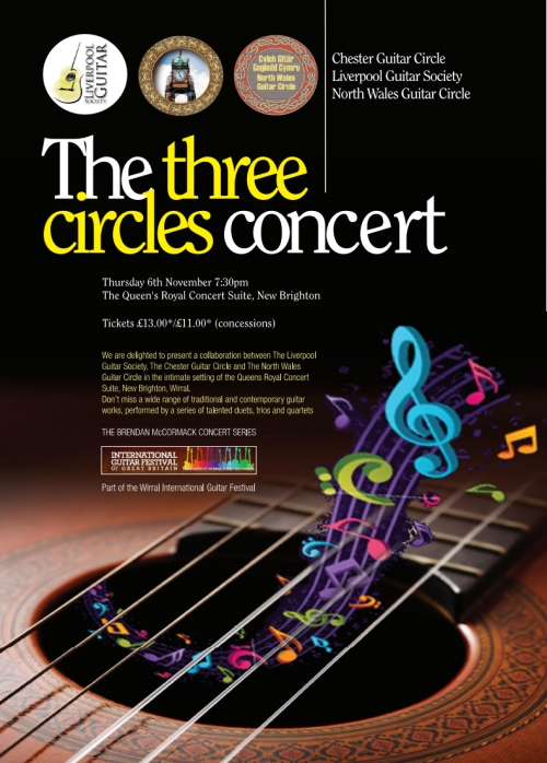 three circles concert poster